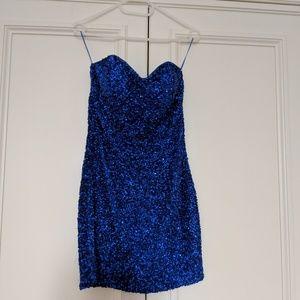 Strapless sequin dress size 6 Topshop